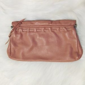 ann taylor pink clutch bag